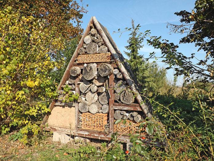 insektenhotel bauen wild und hund. Black Bedroom Furniture Sets. Home Design Ideas