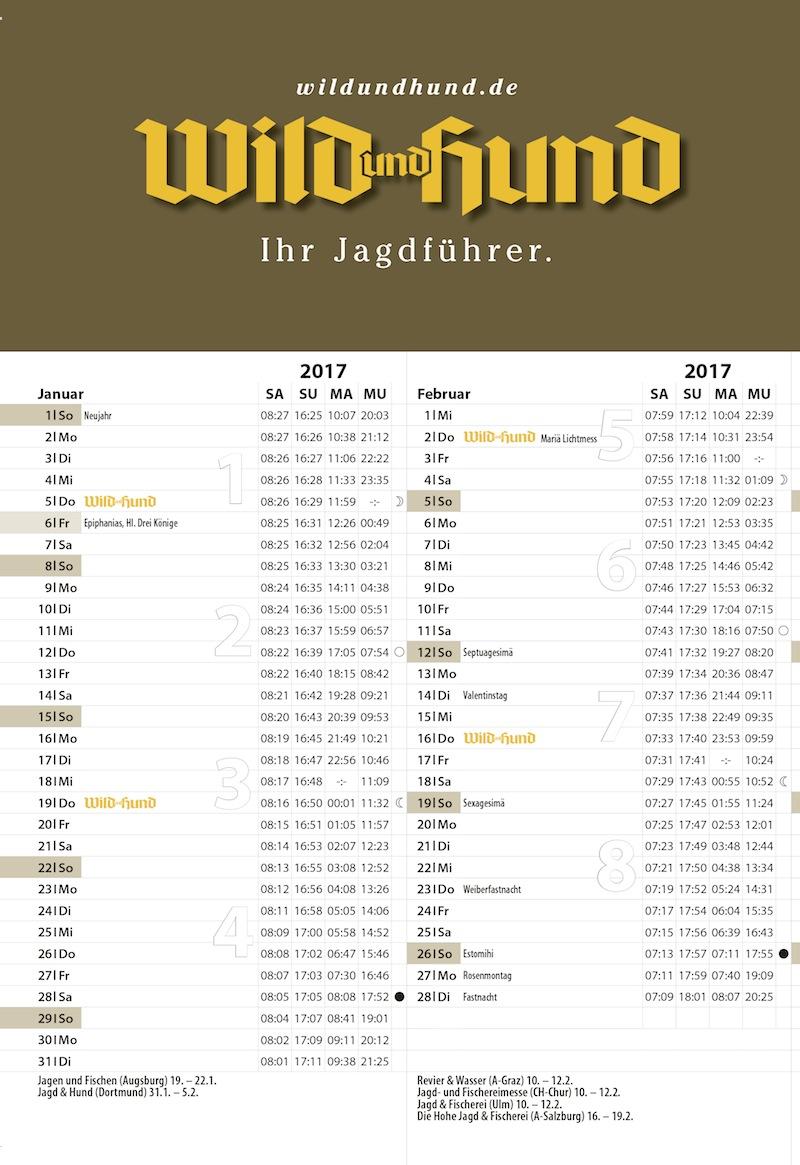 Faltkalender 750 220 2017 Wild Und Hund