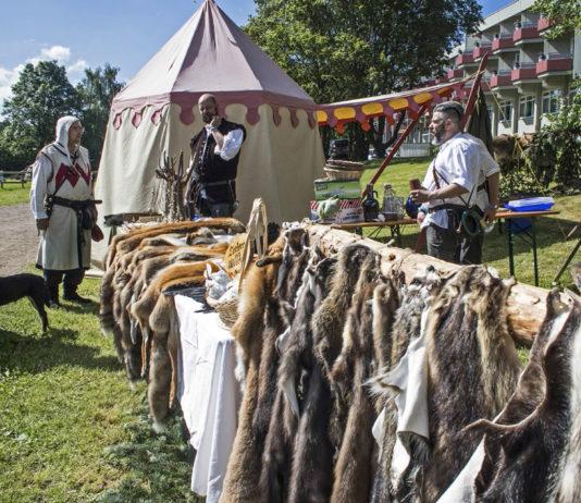 Im Mittelalter ist ein Markt