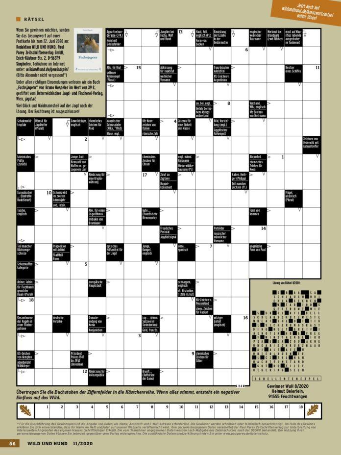 Kopie Kreuzworträtsel