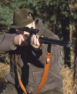 Dame auf der Jagd